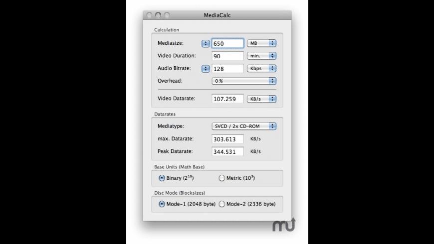 MediaCalc for Mac - review, screenshots