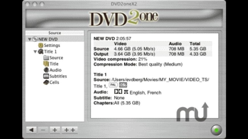 DVD2oneX for Mac - review, screenshots
