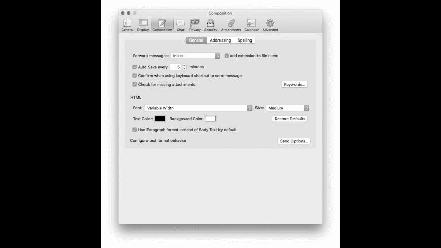Thunderbird for Mac - review, screenshots