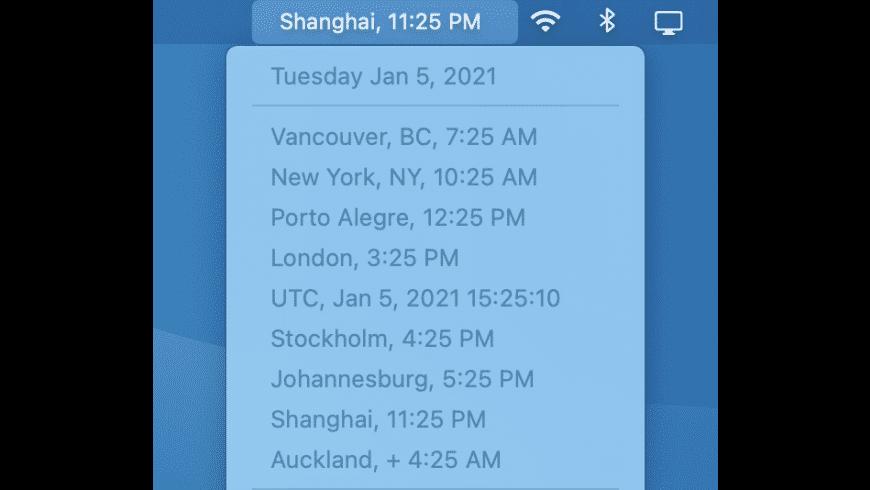 World Clock Deluxe for Mac - review, screenshots