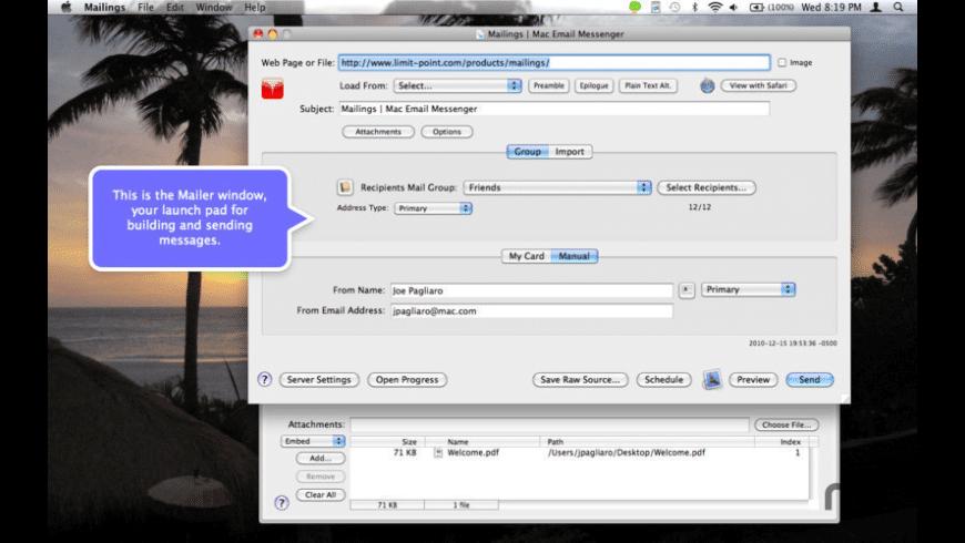 Mailings for Mac - review, screenshots