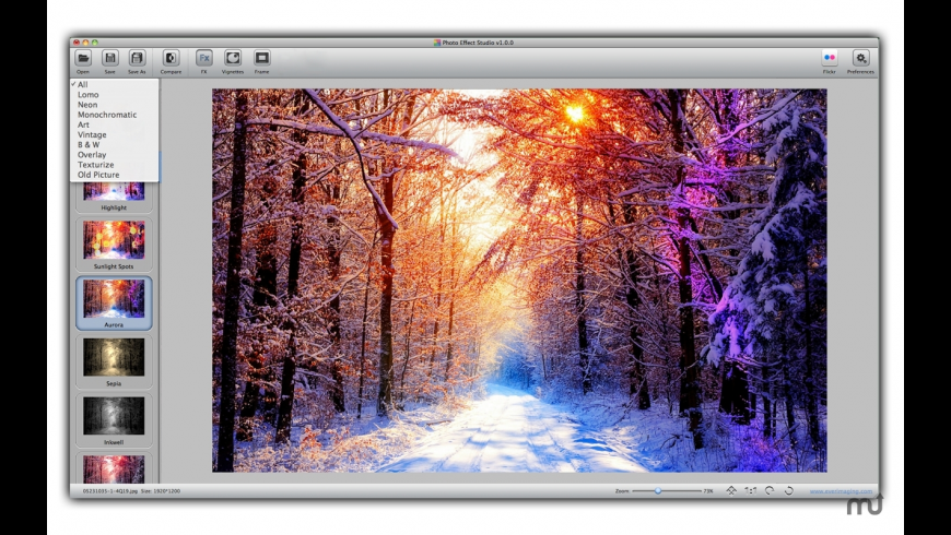Photo Effect Studio for Mac - review, screenshots
