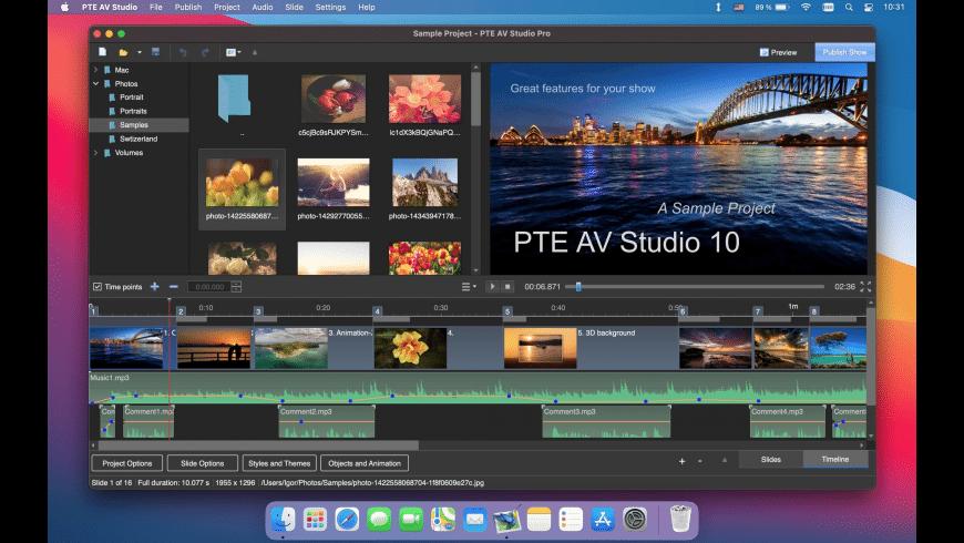 PTE AV Studio for Mac - review, screenshots