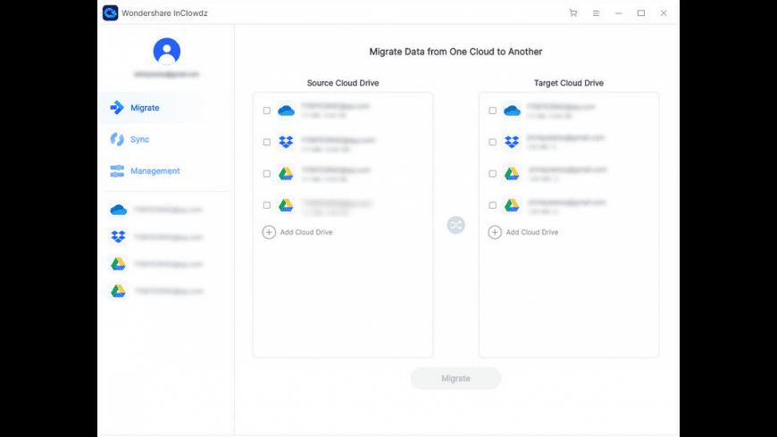 Wondershare InClowdz for Mac - review, screenshots