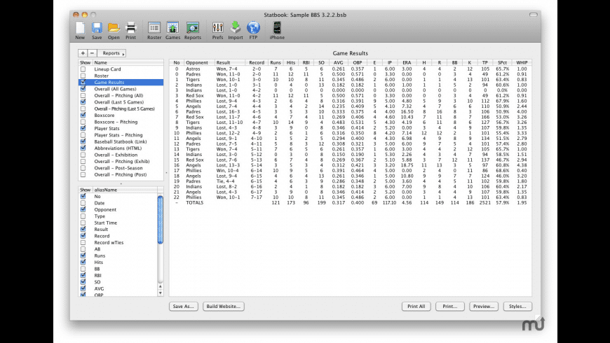 Statbook for Mac - review, screenshots
