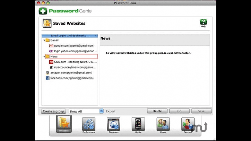 Password Genie for Mac - review, screenshots