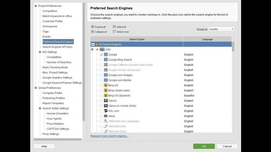 Rank Tracker for Mac - review, screenshots