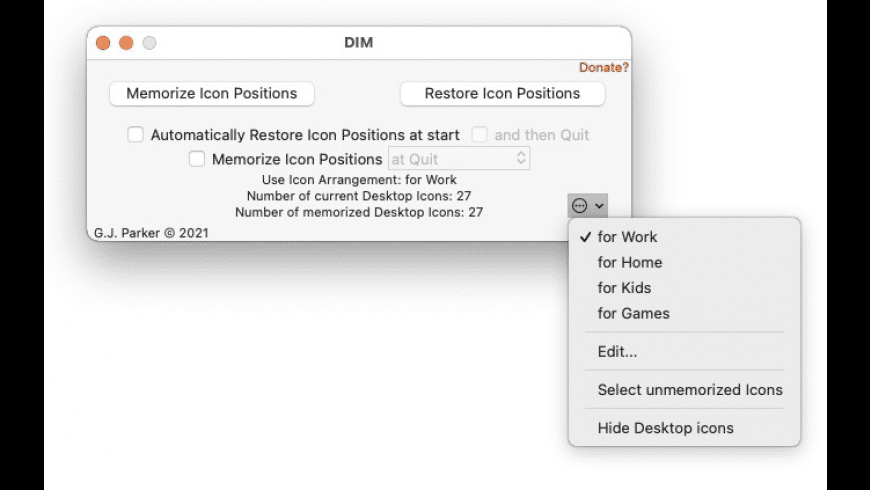 Desktop Icon Manager for Mac - review, screenshots