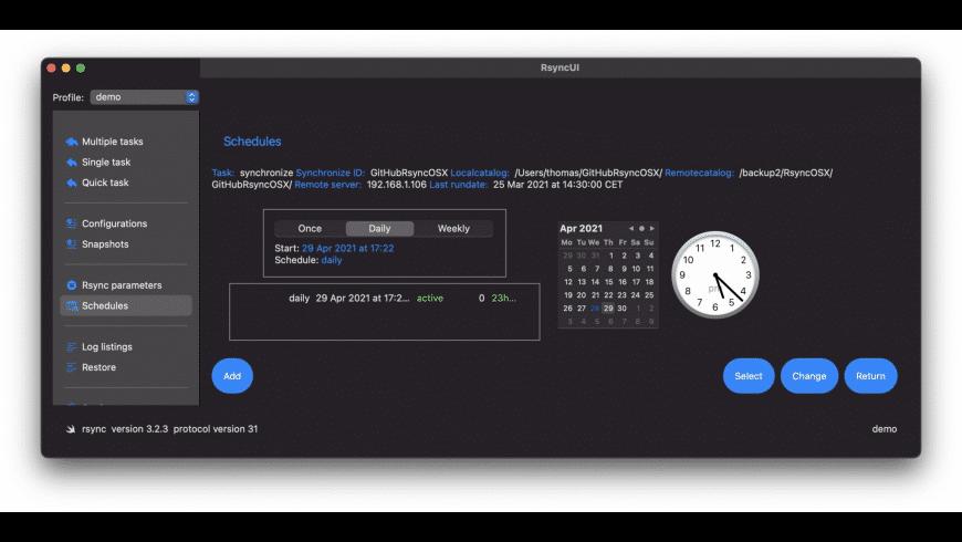 RsyncUI for Mac - review, screenshots