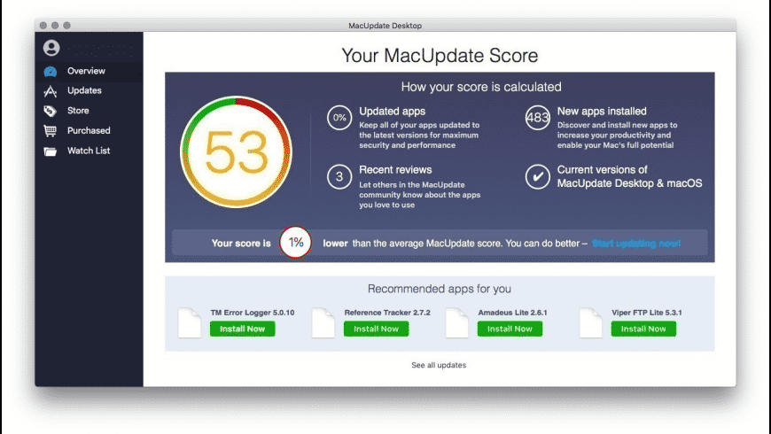 MacUpdate Desktop for Mac - review, screenshots