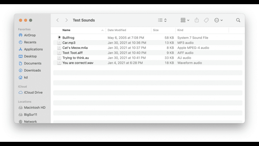 Play Sounds for Mac - review, screenshots