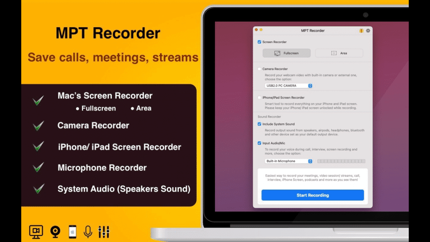 MPT Recorder for Mac - review, screenshots