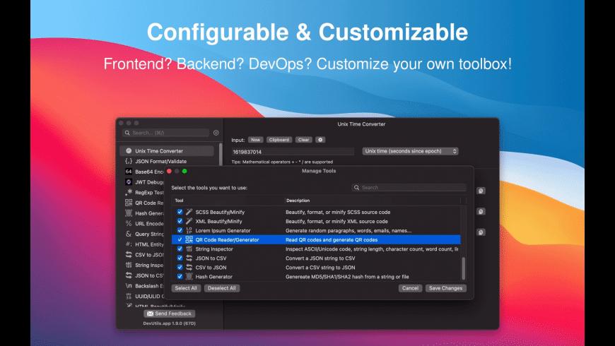 DevUtils for Mac - review, screenshots