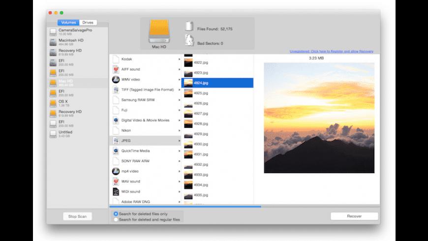 Camera Salvage Pro for Mac - review, screenshots