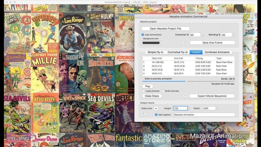 Mazaika-Animation for Mac - review, screenshots
