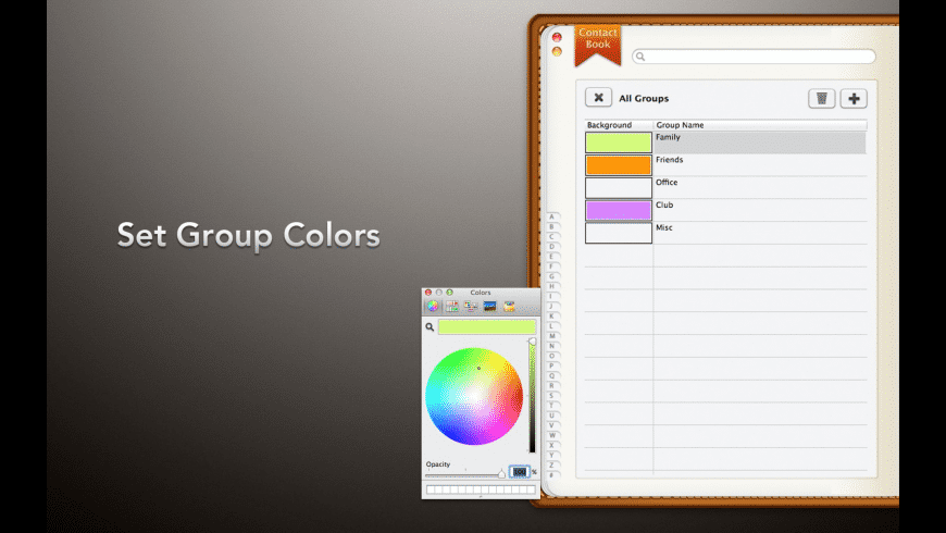 Contact Book for Mac - review, screenshots
