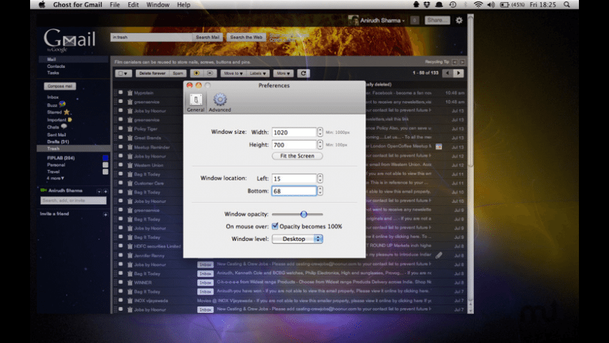 Ghost for Gmail for Mac - review, screenshots