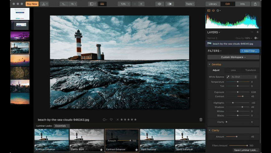 Luminar AI for Mac - review, screenshots