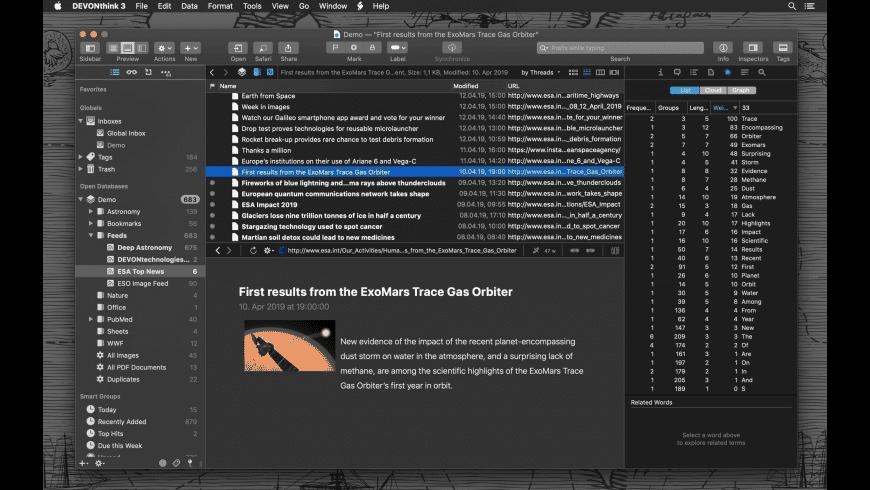 DEVONthink Pro for Mac - review, screenshots