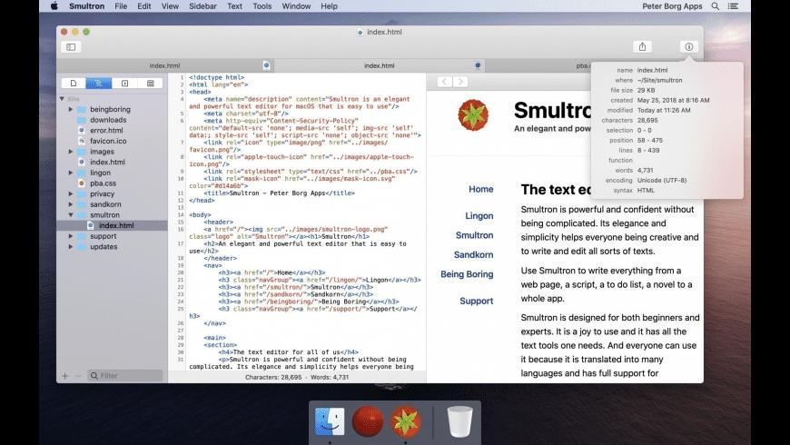 Smultron for Mac - review, screenshots