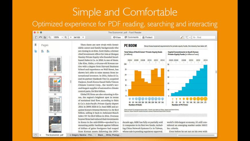 Foxit PDF Reader for Mac - review, screenshots