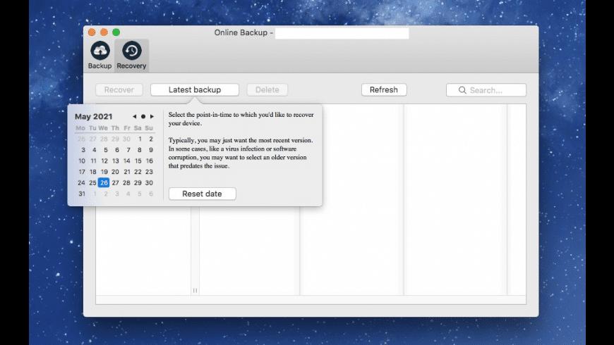 SOS Online Backup for Mac - review, screenshots