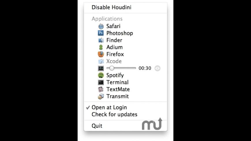 Houdini for Mac - review, screenshots