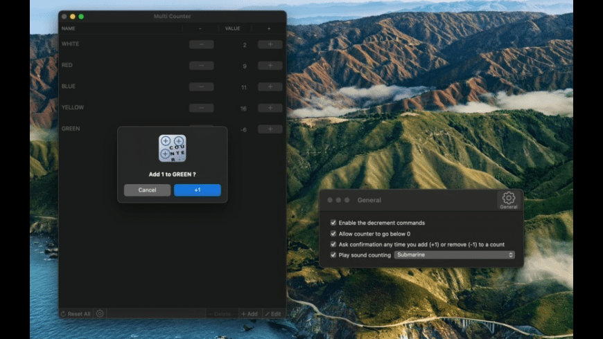 Multi Counter for Mac - review, screenshots