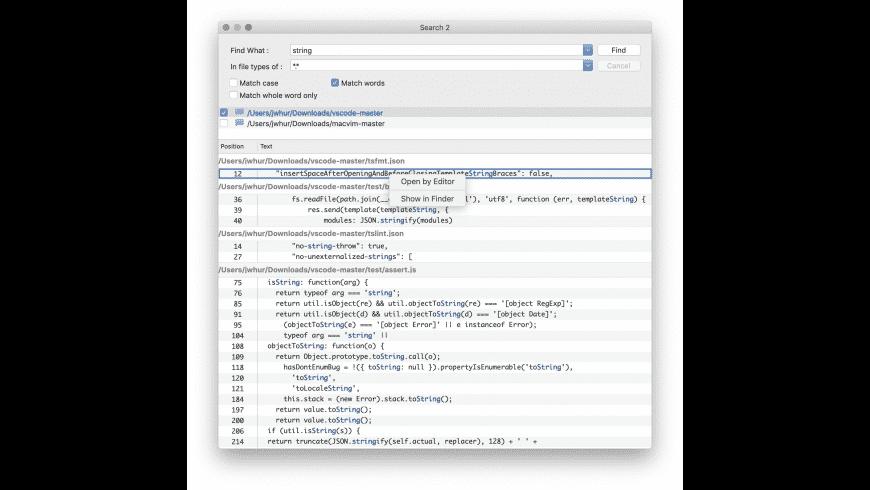 FindInFiles for Mac - review, screenshots