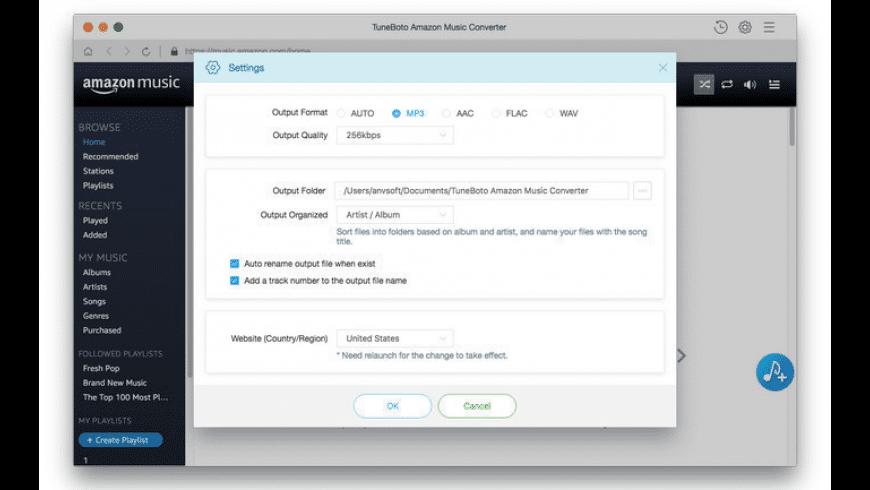 TuneBoto Amazon Music Converter for Mac for Mac - review, screenshots