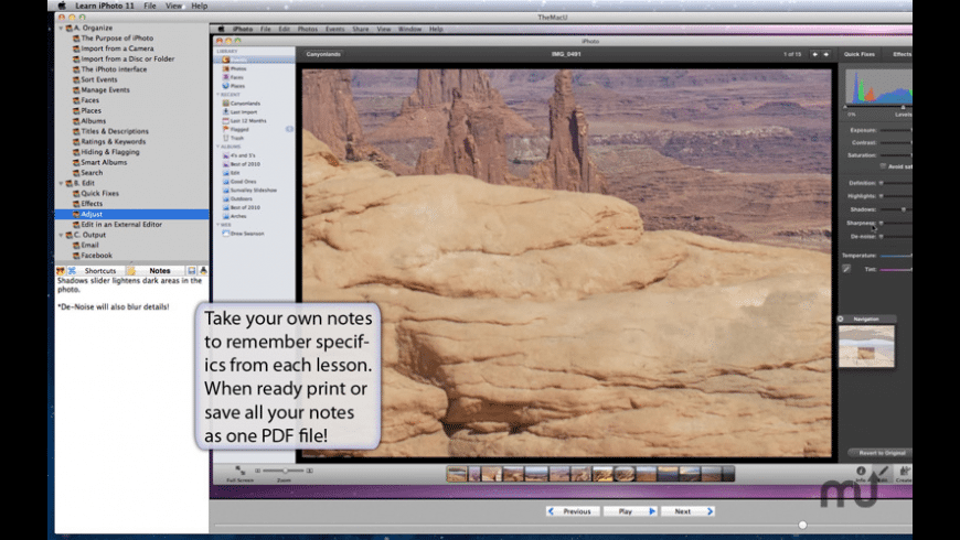 Learn iPhoto '11 for Mac - review, screenshots