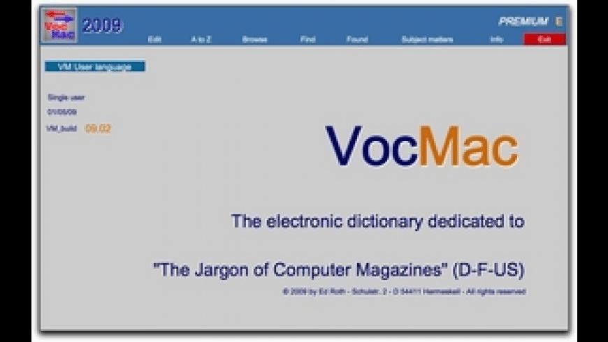 VocMac for Mac - review, screenshots