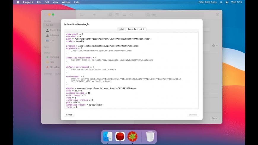 Lingon X for Mac - review, screenshots