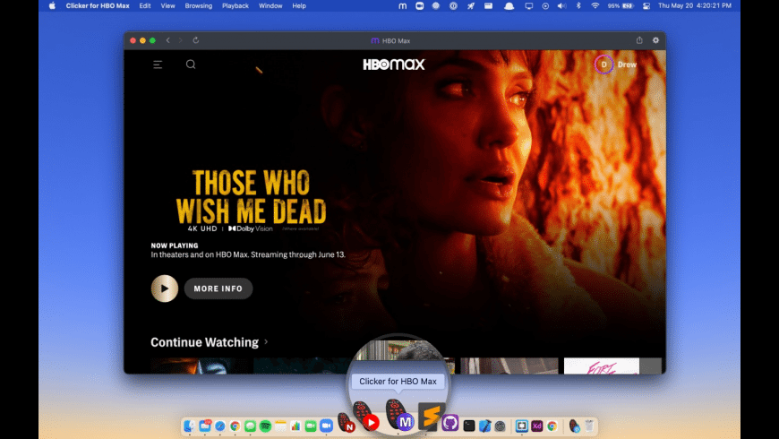 Clicker for HBO Max for Mac - review, screenshots
