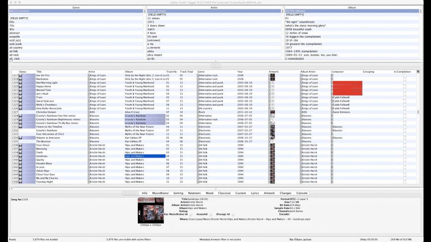 Jaikoz for Mac - review, screenshots