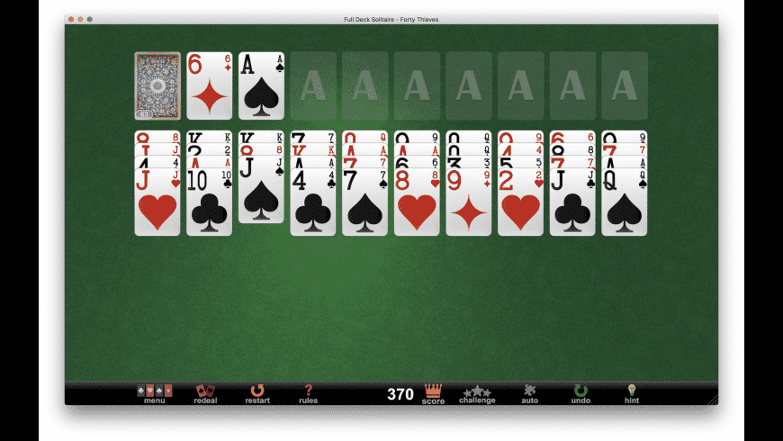 Full Deck Solitaire for Mac - review, screenshots