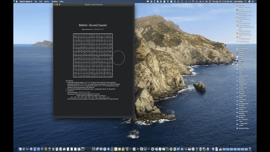 Matrix Maker X for Mac - review, screenshots