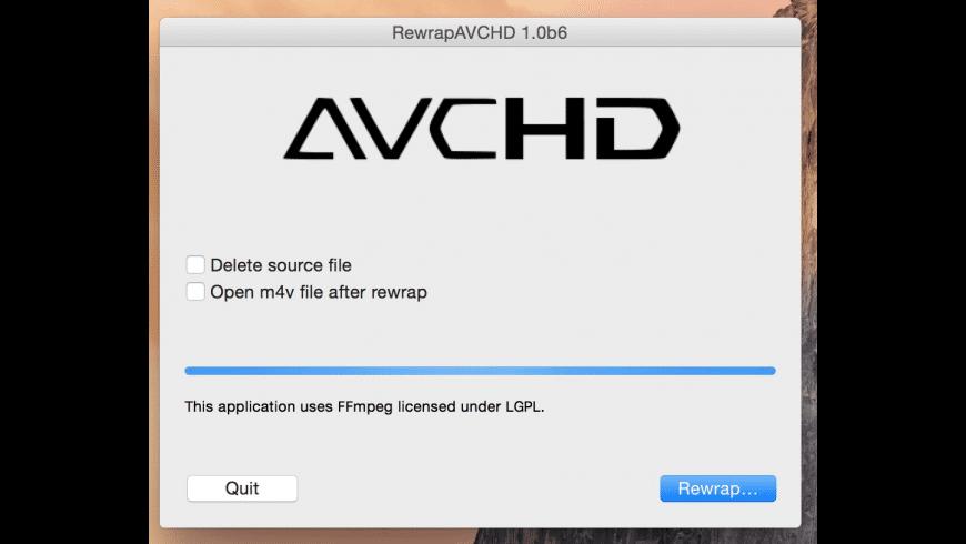 RewrapAVCHD for Mac - review, screenshots