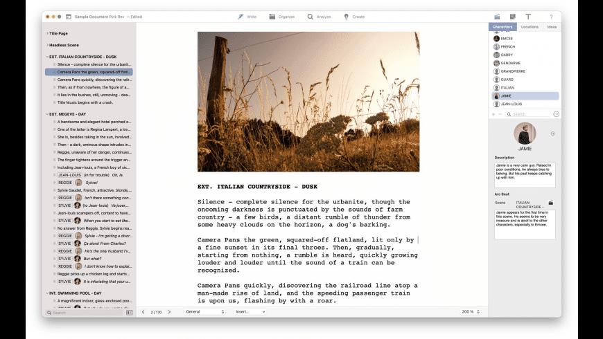 FiveActs for Mac - review, screenshots