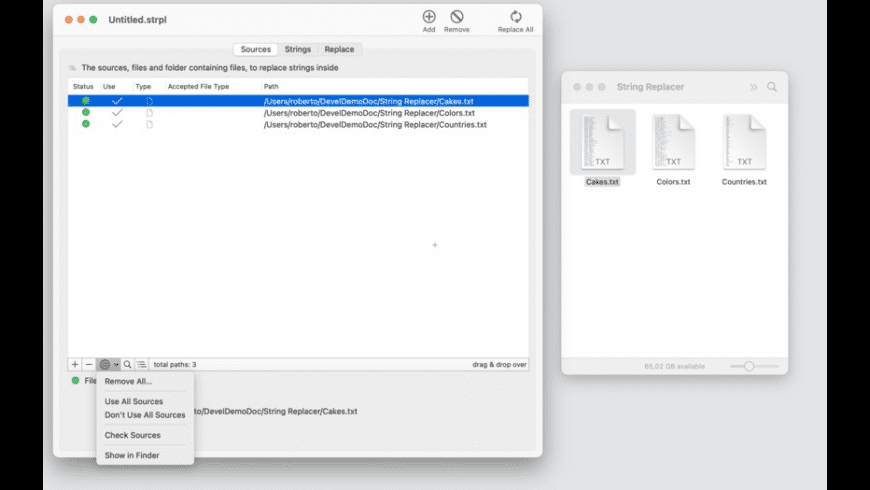 String Replacer for Mac - review, screenshots
