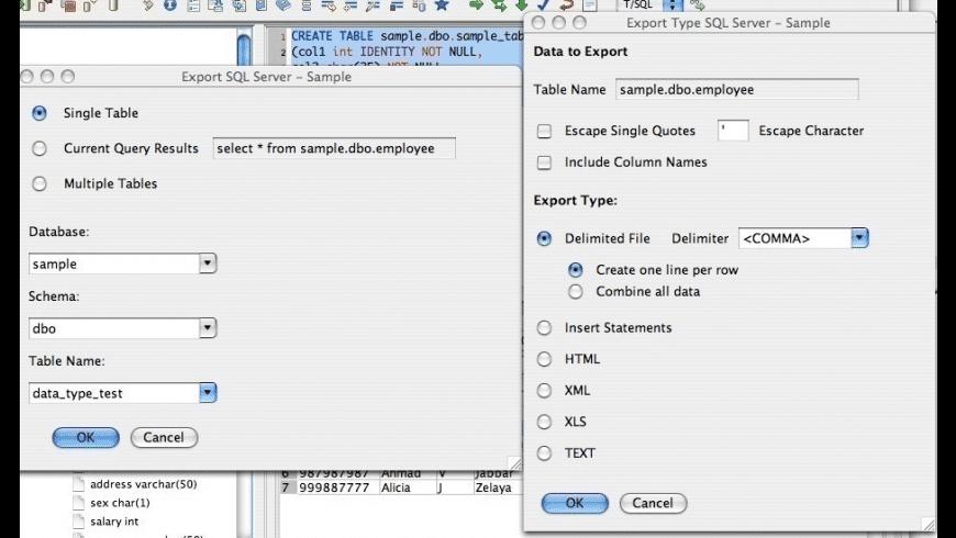 RazorSQL for Mac - review, screenshots