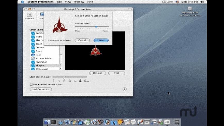 Klingon Screen Saver for Mac - review, screenshots