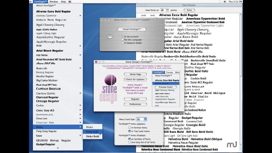 FontSight for Mac - review, screenshots
