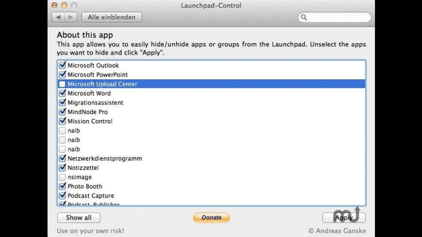 Launchpad-Control for Mac - review, screenshots