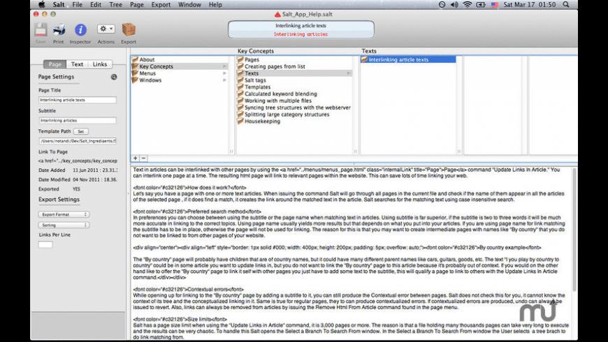 Salt for Mac - review, screenshots