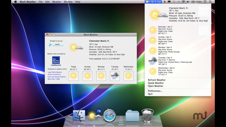 Mach Weather for Mac - review, screenshots