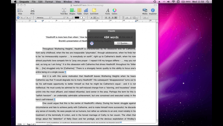 Unquote for Mac - review, screenshots
