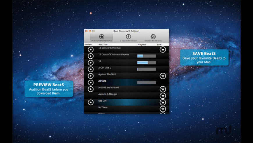 Beat Store (AI1 Edition) for Mac - review, screenshots