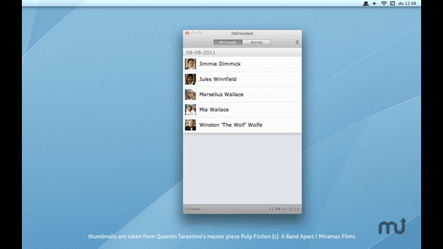 Defriended for Mac - review, screenshots