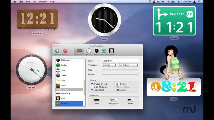 Clox for Mac - review, screenshots